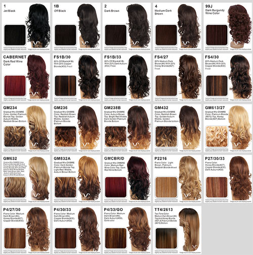 African American Hair Color Chart