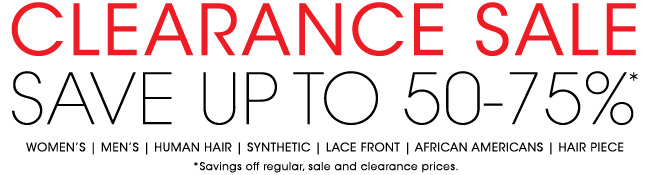 Clearance Sale - Save Up To 75%
