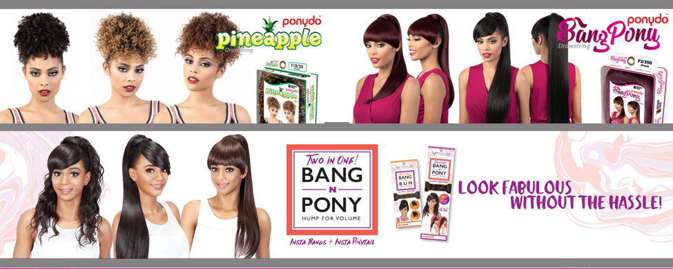 Hairpieces - Ponytails and Bangs