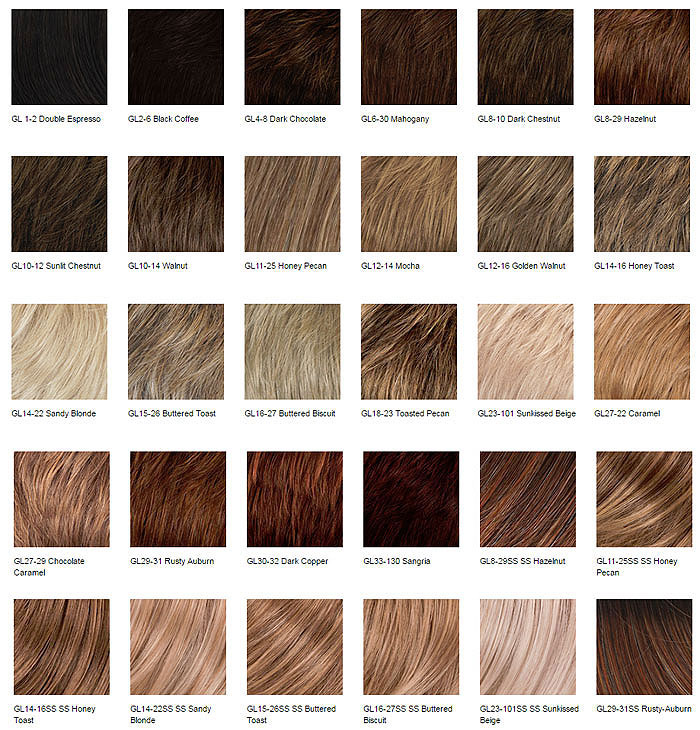 Color Charts - Gabor Wig Collection
