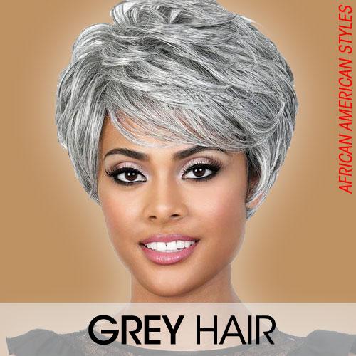 Grey Hair Wigs for Black Women