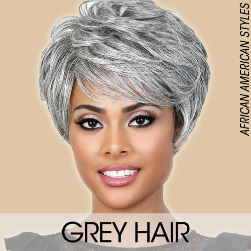 Grey Wig for Black Women
