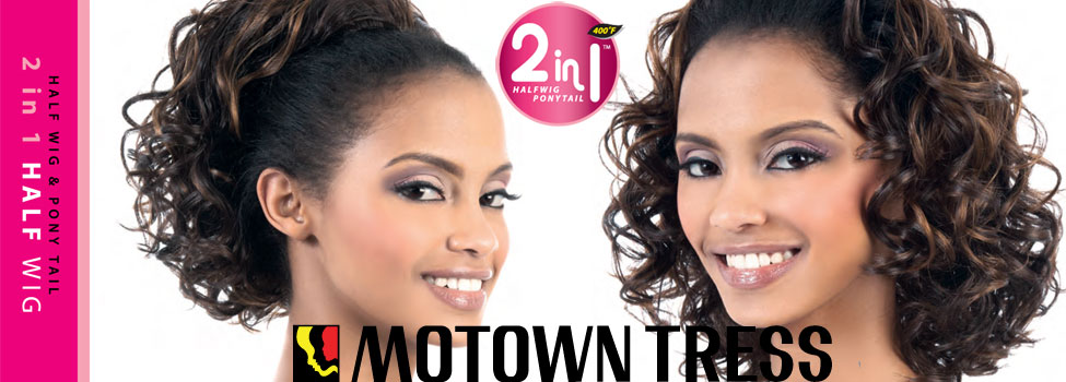 Half Wig $ Pony Tail - Two in One by Motown Tress