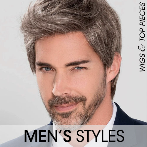 Men's Wigs and Hair Top Pieces