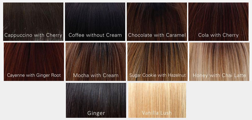 Belle Tress Collection Wig Colors for Synthetic Hair Wigs