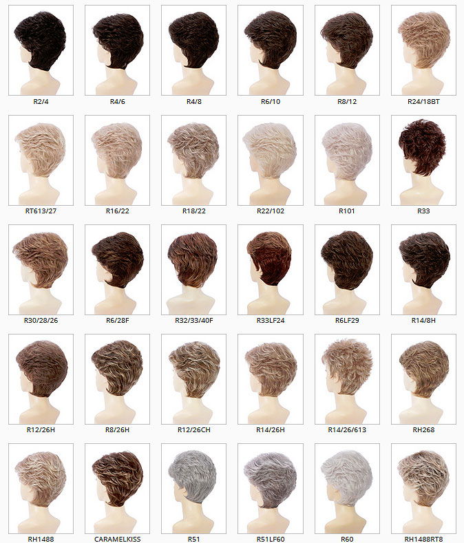Estetica Designs Wig Colors